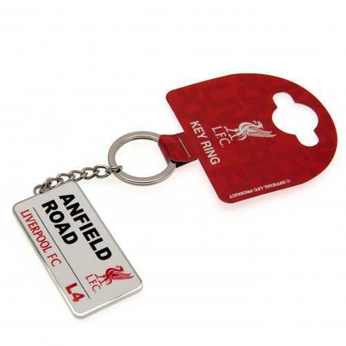 LIVERPOOL ANFIELD ROAD STREET SIGN KEYCHAIN SHIPS FROM USA OFFICIALLY LICENSED