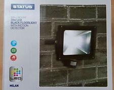 Black LED Motion Sensor Flood Light Lamp 30w Wall Mounted Security Great Value!
