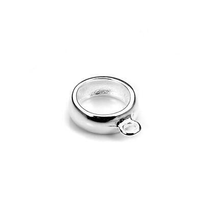 925 Sterling Silver 6.5mm Charm Bracelet Hanger Bead Carrier Bail Dangle Holder