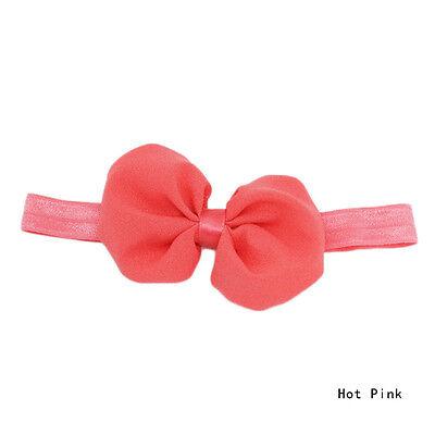 Hot Baby Girls Newborn Chiffon Bowknot Headbands Hairband Hair Bow Band Bandeau