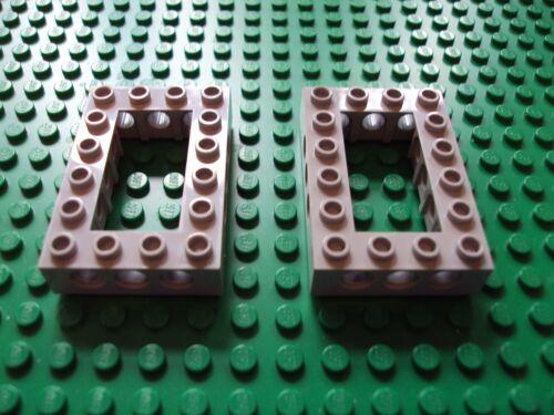 Lego Technic//Mindstorm ~ Lot Of 2 Light Gray Frames 4x6 Open Center 4 x 6 #cvqmn