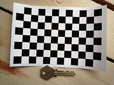 "Chequered Race Flag Car STICKER Sheet Checkered Check A6 6"" x 4"" Exterior Vinyl"