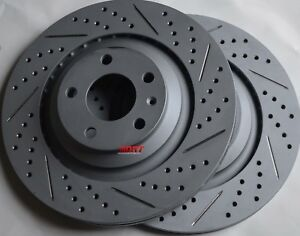 Fits-Audi-A6-Quattro-4-2-Drilled-Slotted-Brake-Rotors-Made-In-Germany-Rear
