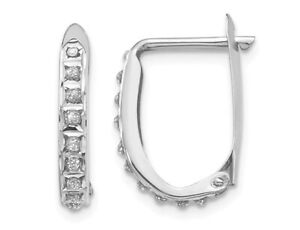 Accent-Diamond-Small-Hoop-Earrings-14K-White-Gold