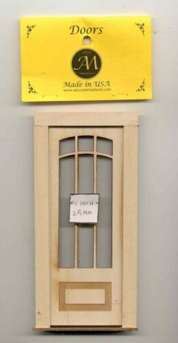 Craftsman 2329 wood dollhouse miniature 1:12 scale Made in USA Door