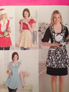 Simplicity-Sewing-Pattern-2298-Misses-Ladies-Aprons-Hat-Bottle-Cozy-Uncut