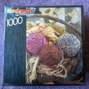 Kodacolor Satinesque Puzzle Basket of Yarn 1000 PC New Roseart Made in the USA