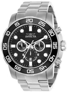 Invicta-Pro-Diver-22226-Men-039-s-Black-Round-Chronograph-Date-Analog-Watch