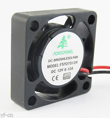 1pc New MINI Brushless DC Cooling Fan 2 wire 12V 0.12A 25x25x7mm 25mm 2507