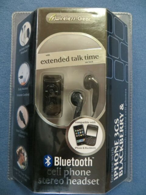 Wireless Gear Bluetooth Deluxe Cell Phone Headset Model Au475 For Sale Online Ebay