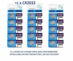 15-x-t-amp-e-CR2032-3-V-Lithium-Bouton-Cell-Coin-Batterie-Piles-DL-CR-2032-Exp2022