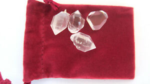 Four-Herkimer-Diamonds-18mm-Healing-Crystals-Double-Terminated-Telepathy-Energy