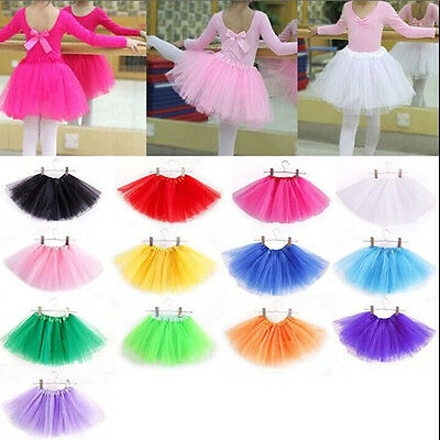 Girls Kids Baby Dance Chiffon Tutu Skirt  Ballet Skirt Dress Up Fancy Costume