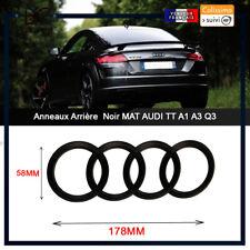 Audi Anneaux Mat Noir Arrière Coffre Badge Emblème 178 mm x 58 mm pour TT Q une série R
