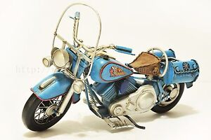 Handmade Indian Motorcycle 1:8 Tinplate Antique Style Metal Model