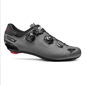 SIDI Genius 10 Road Cycling Shoes Black Grey RRP 300£