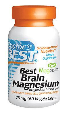 Best Brain Magnesium (75 mg) - Doctor's Best - 60 Veggie Capsules