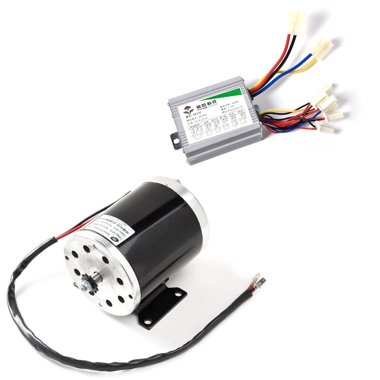 500 W 36V DC electric motor 1020 kit w base control box f scooter gokart or DIY