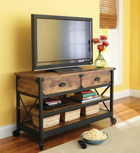 best service 18f9e 2232a Rustic Tv Stand Media Console Entertainment Center Wood Country Home  Furniture