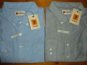 Farah Drayton Long Sleeve Blue Shirt