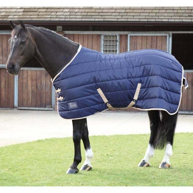 SHIRES TEMPEST 200 GRAM STABLE RUG - SIZE 5'9 NAVY   BEIGE - MEDIUM CLEARANCE  b