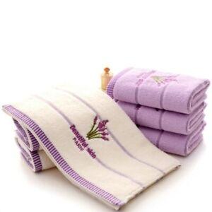 2Pcs-Lavender-Pattern-Soft-Cotton-Face-Towel-for-Adults-Super-Absorbent-Towels