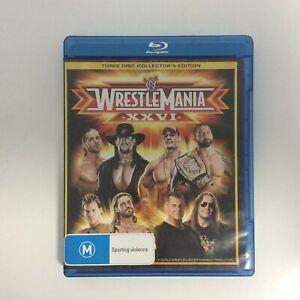 Wrestle-Mania-XXVI-26-Blu-Ray-Excellent-Condition