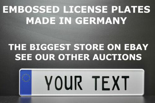 EU star Euro European License Plate Number Plate Embossed Alu Custom New