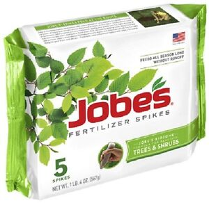 15 Pack Jobe/'s 1610 Tree Outdoor Fertilizer Food Spikes