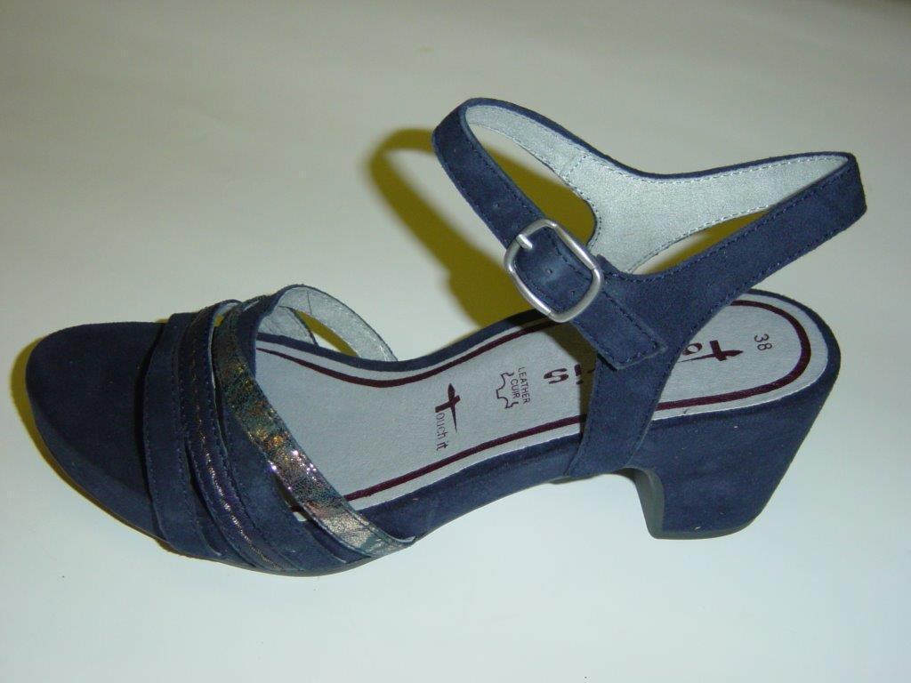 Tamaris sandalias   azul   plataforma suela   apartado   tamaño 38 39 (sandalias)