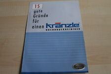 128324) Kränzle Hochdruckreiniger Prospekt 2009