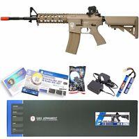 G&G TAN Airsoft M16 M4 M4A1 RIS Raider Long AEG Rifle Gun W/ Battery & Charger