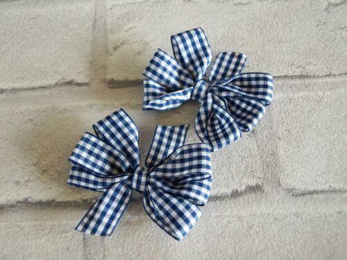 School Hair Bows Gingham Hair Bows Clips Checked Bows Hair Bobbles