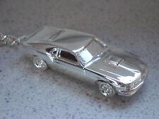 Schlüsselanhänger Ford Mustang alte Ausführung versilbert (5173)