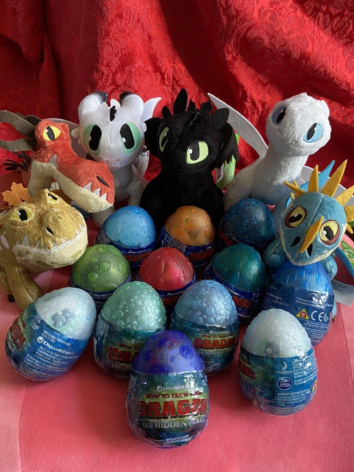 Cómo Entrenar a Tu Dragon Lot  12 Huevos & seis 8  Dragones De Peluche-luz De Noche Bebés