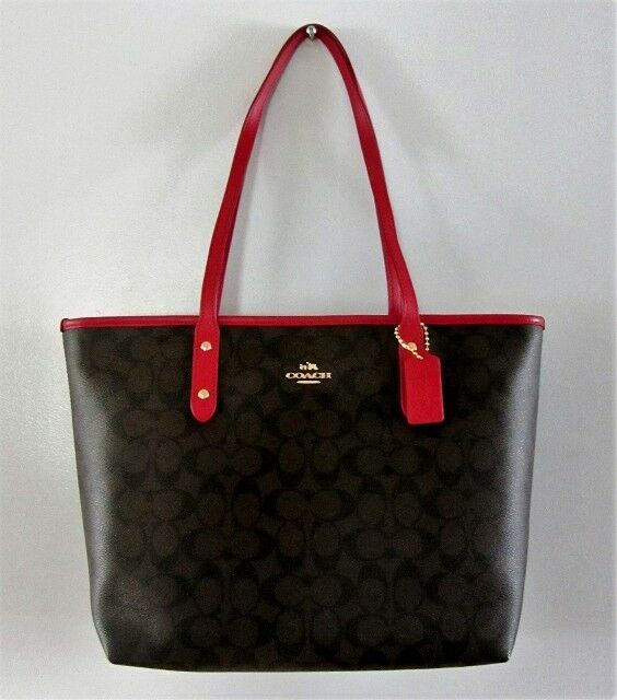 9a394f857f6b2 ... discount code for coach f58292 city zip tote in signature coated canvas  100 authentic ebay e3b97