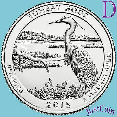 2015 S Bombay Hook National Wildlife Refuge 90/% SILVER PROOF QUARTER Delaware