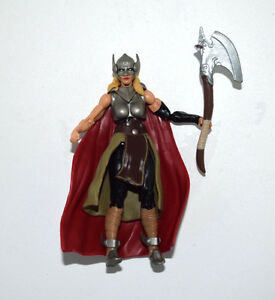 marvel universe jane thor with axe weapon 3 75 quot loose