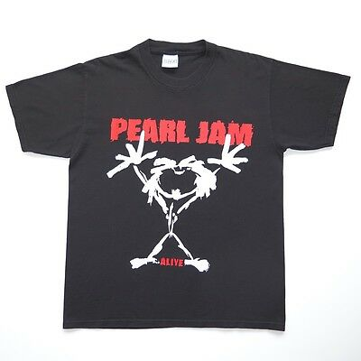 VINTAGE ORIGINAL TEE SHIRT PEARL JAM ALIVE TEE SHIRT 1993 BLACK LARGE