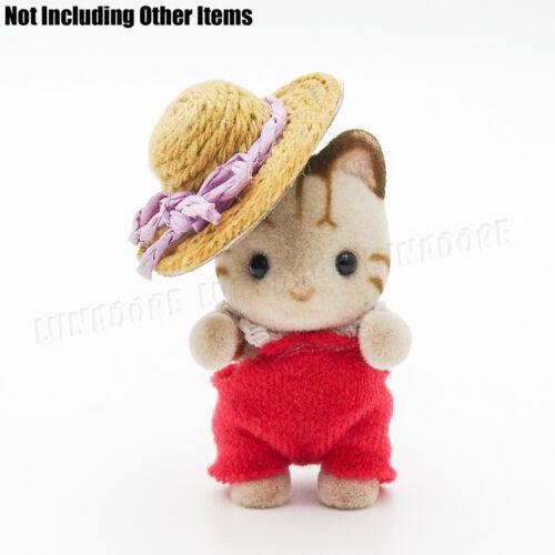 1:12 Miniature Beauty Bowknot Straw hat Sweet Girl Dollhouse Outdoor Decor Gift