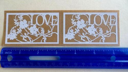 Strip 2 Laser-Cut Silhouettes Stickers LOVE Mrs Grossman WILD ROSES