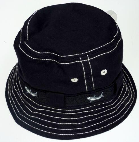 Boys Baby GAP Hat Bucket Brim Canvas Shark Embroidered Cotton Summer 48cm xs//s