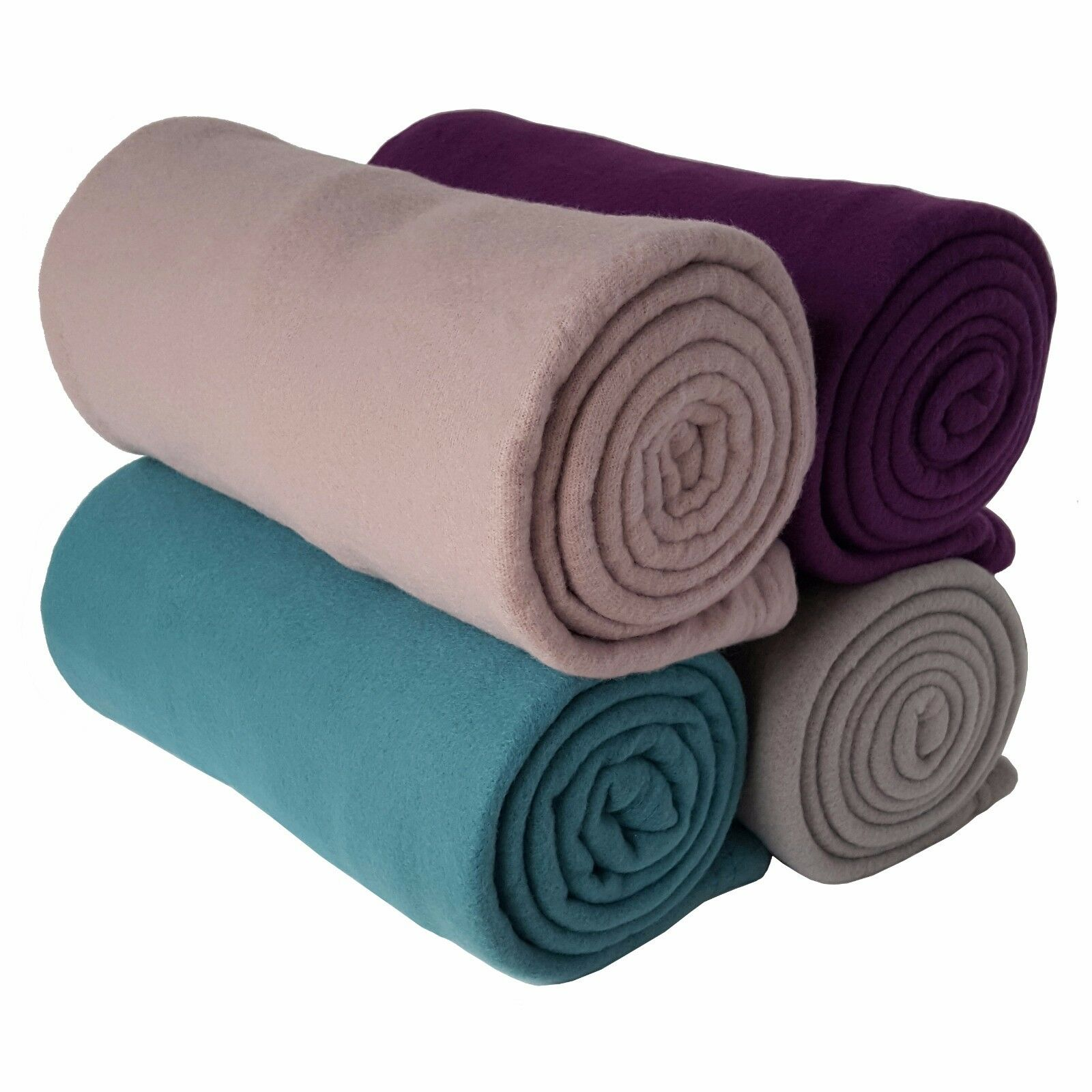 4 x 150cm Fleece Lightweight Yoga   Sport Blanket  - 4 Colours