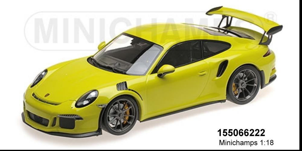 MINICHAMPS 155066222-Porsche 911 gt3 rs (991) – 2015 – Lichtvert l.E. 1002 PC