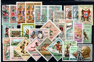 Mozambique-29-Older-Used-Issues-Lot-1020262