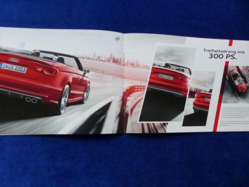 AUDI s3 CABRIO CABRIOLET TIPO a3 8v-preview prospetto brochure 03.2014