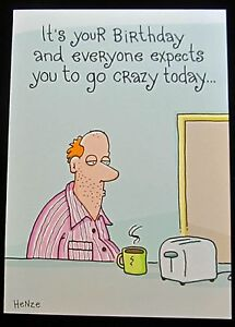 Image Is Loading Oatmeal Studios Greeting Card Birthday Humor Funny Multi