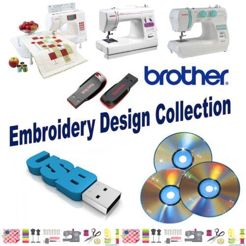 Cerradura de bebé hermano 16GB memoria USB con 150,000 diseños de bordado de la máquina
