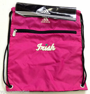 9f0f9384b6eb NWT NCAA Notre Dame Fighting Irish Adidas Sling Gym Bag Backpack ...
