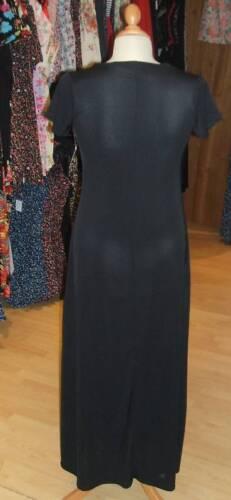 Baylis /& Knight BLACK SHORT SLEEVE Long JERSEY MAXI DRESS Cute Versitile